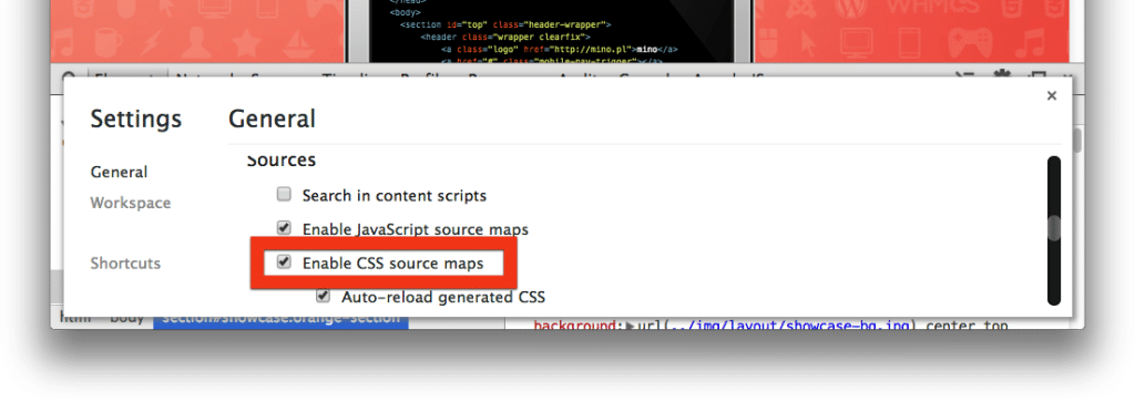 Source maps w Chrome