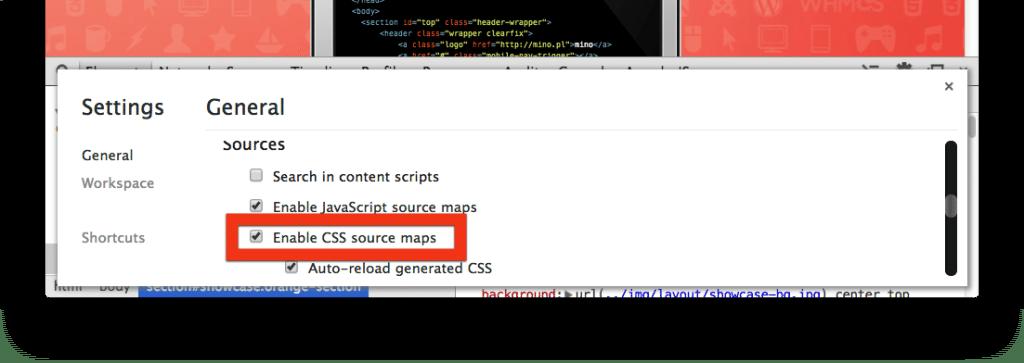 Source maps w Chrome