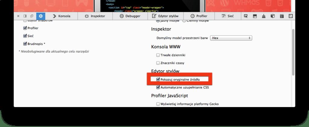 Source maps w Firefox