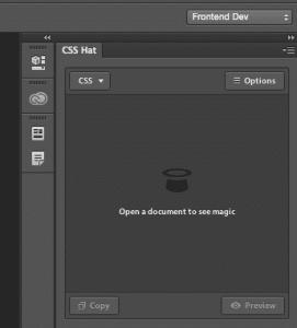 Panel pluginu CSS Hat
